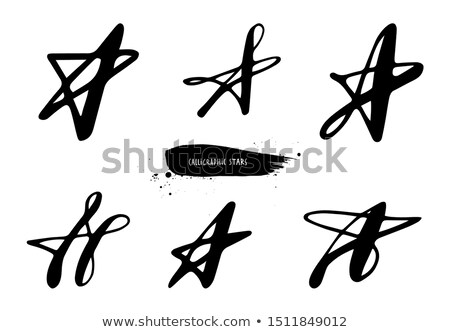 Vectorized Ink Sketch of Stars Stock photo © cidepix
