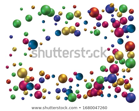 Scattered blue balls background Stock photo © SwillSkill