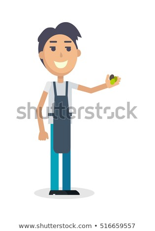 Boy with Grapes Isolated. Winemaker Gather Harvest Stock photo © robuart