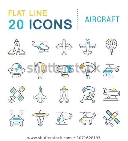 Military Helicopter Flat Style Vector Icon Stock photo © robuart