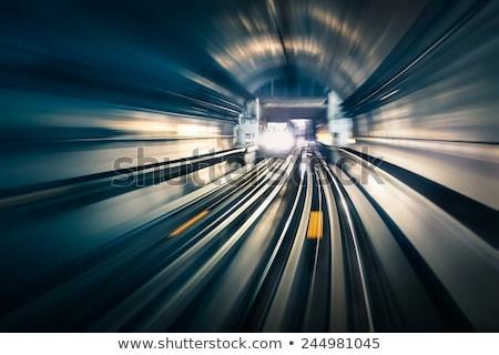 Ondergrondse trein verplaatsen koninkrijk groot-brittannië noordelijk Stockfoto © Chalabala