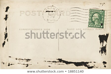 vintage postcard with us one cent postage stamp stock photo © hofmeester