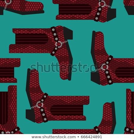 カウボーイブーツ · ペア · 白 · 革 · ブーツ · 西部 - ストックフォト © popaukropa