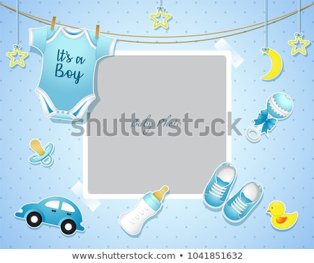 baby boy arrival announcement card Stock photo © get4net