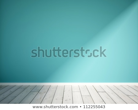 blue wall background with white parquet Stock photo © sedatseven