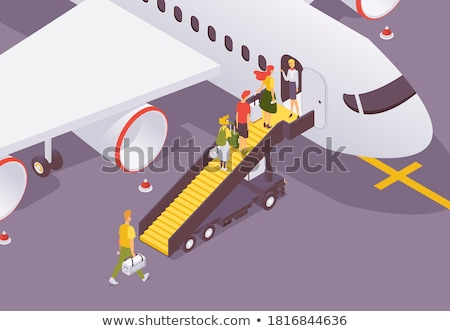 Flight of stairs isometric vector illustration. Stock photo © kup1984