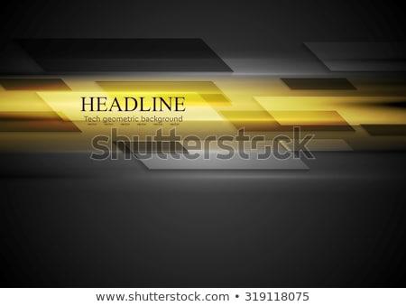 dark brochure design with yellow stripe Stock photo © SArts
