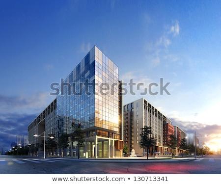 Modern gebouw 3D architectuur ontwerp model mijn Stockfoto © ixstudio