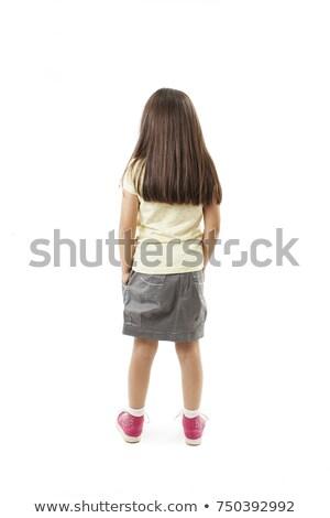 肖像 動揺 少女 泣い 孤立した ストックフォト © deandrobot