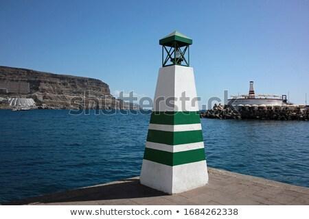Deniz feneri İspanya şehir seyahat Stok fotoğraf © benkrut