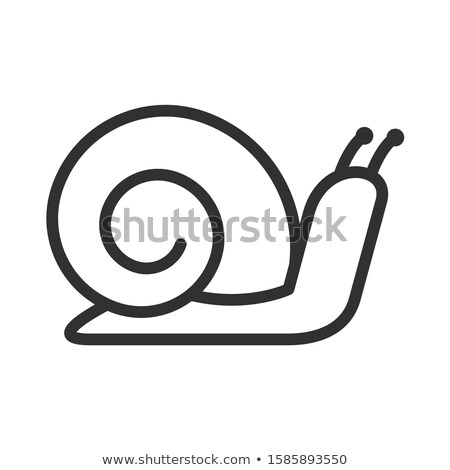 Illustration of a snail that crawls linear Stock photo © Olena