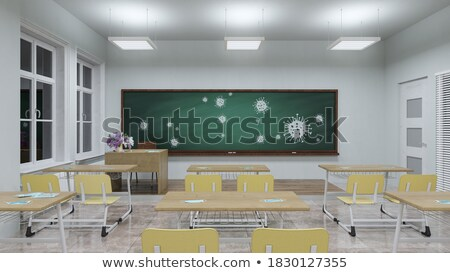 chalkboard with disease prevention concept 3d illustration stock photo © tashatuvango