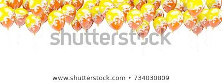 Foto stock: Balões · quadro · bandeira · Butão · isolado · branco