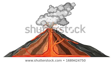 вулкан · лава · острове · изолированный · белый · горные - Сток-фото © vectorworks51