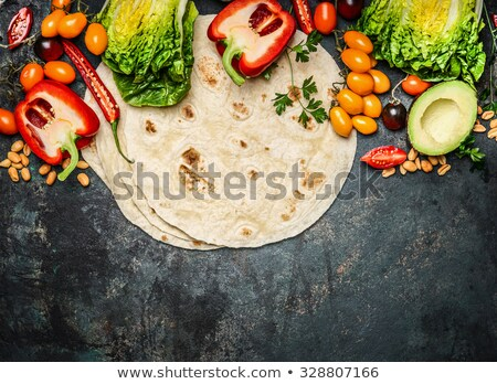 Comida mexicana ingredientes mesa de madeira comida madeira Foto stock © wavebreak_media