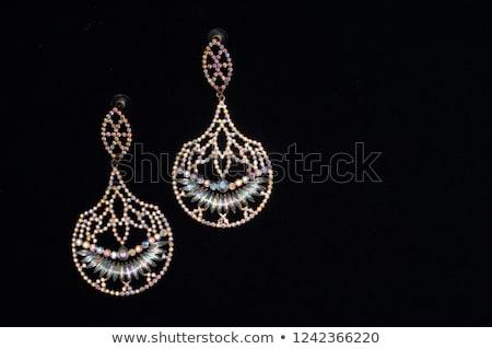 diamant · juwelen · zwarte · geschenk · schat · luxe - stockfoto © dolgachov