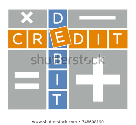 Silueta débito crédito crucigrama cálculo equilibrio Foto stock © Olena