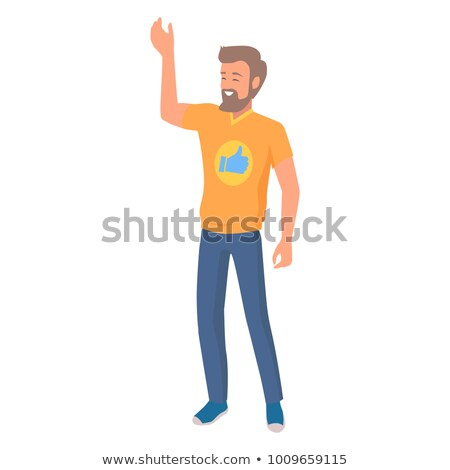 Man Emotional Nonverbal Body Language Clue Sign Stock photo © robuart