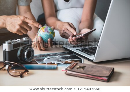 couple searching world for vacation stock photo © is2