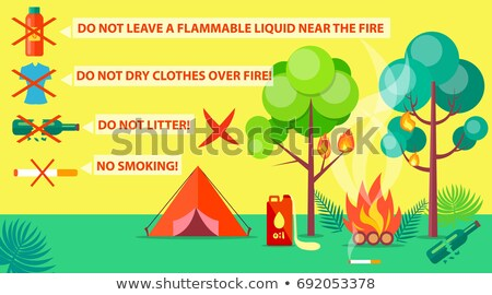 Poster of Campground Rules and Regulations Stock photo © robuart