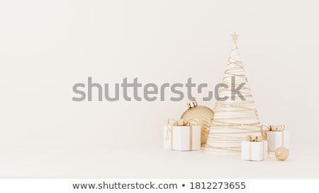 wesoły · christmas · festiwalu · uroczystości · czerwony · złota - zdjęcia stock © sarts