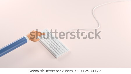 современных клавиатура 3D бизнеса мужчины Сток-фото © tashatuvango
