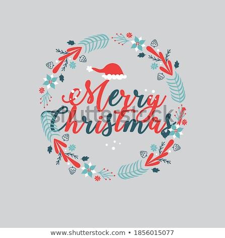 陽気な クリスマス 明けましておめでとうございます グリーティングカード 新しい 年 ストックフォト © Alkestida