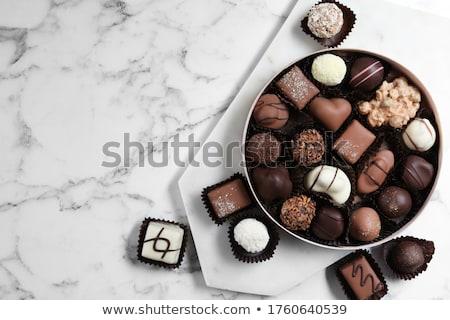 chocolate, praline for christmas Stock photo © M-studio