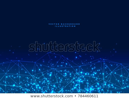 abstract futuristic digital network particles baner background Stock photo © SArts