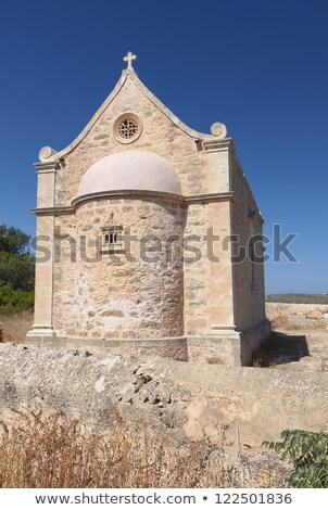 Stock photo: Old Orthodox chapel near Toplou monastery in Crete, Greece.