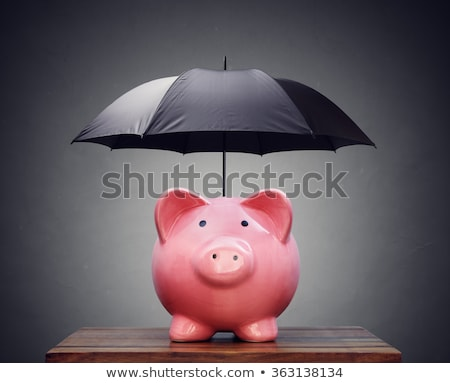 Malac bankok pénz asztal minta persely Stock fotó © IS2