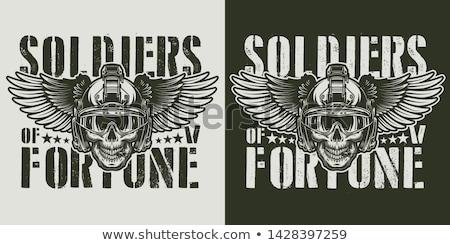 Kafatası asker eski askerler adam savaş Stok fotoğraf © serdarduran