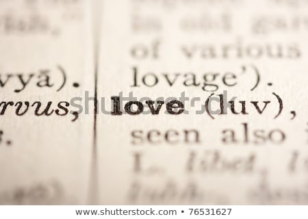 Dictionary definition of the word 'LOVE' in English Stock photo © ivelin