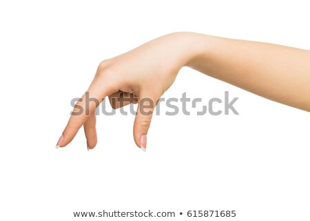 Woman's hand making gesture while grab some items Stock photo © DenisMArt