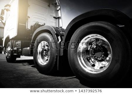 トラック 黒白 黒 テンプレート 車 サービス ストックフォト © YuriSchmidt