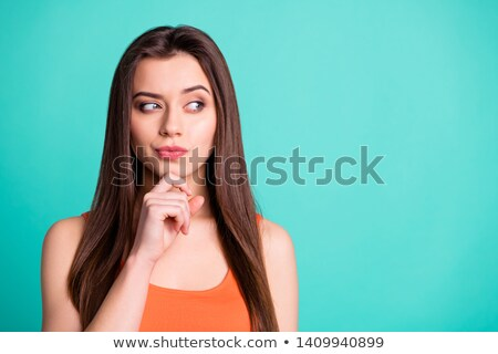 Portrait of a serious girl dressed in tank-top Stock photo © deandrobot