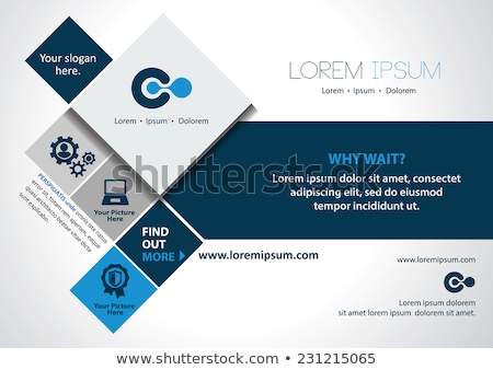 clean blue brochure design template Stock photo © SArts
