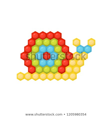 kids cartoon puzzle game with colorful red snail stock photo © adrian_n
