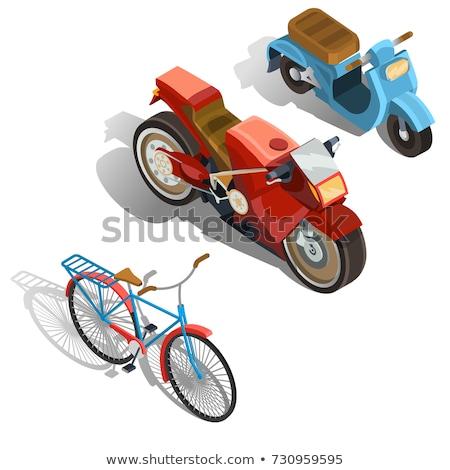 Vintage city scooter isometric 3D element Stock photo © studioworkstock
