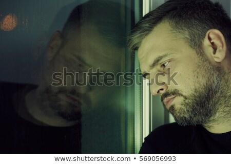 Alkoholizm problem człowiek ilustracja wina pić Zdjęcia stock © adrenalina