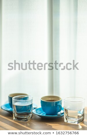 Graffiti and coffee cup on desk Stock photo © IS2