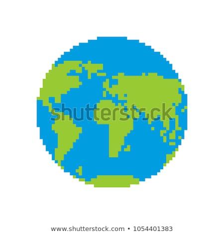 Föld pixel művészet terv absztrakt illusztráció Stock fotó © lenm