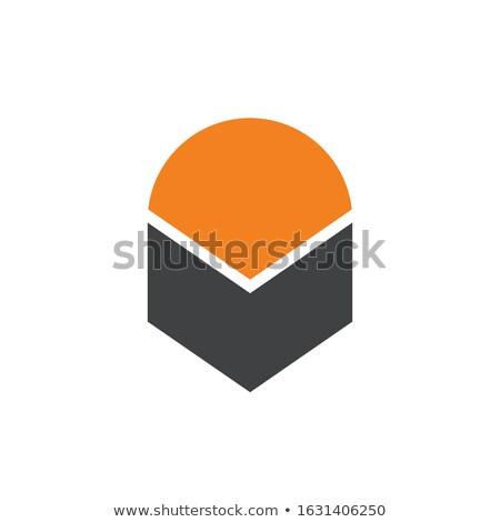 soyut · yukarı · geometrik · nesne · logo - stok fotoğraf © taufik_al_amin