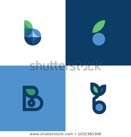 simple natural leaf logo icon abstract purple and blue leaf set stock photo © taufik_al_amin