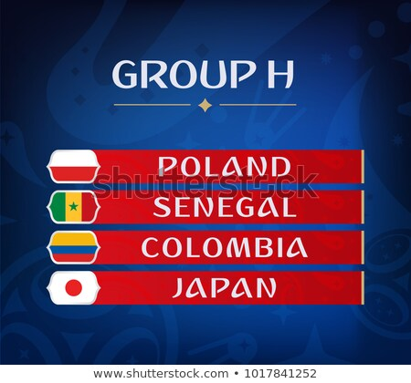 Soccer world game event 2018 Group H country team Stock photo © cienpies