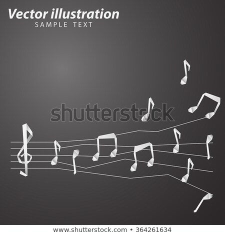 Papír zene origami jegyzetek jegyzet átlátszó Stock fotó © romvo