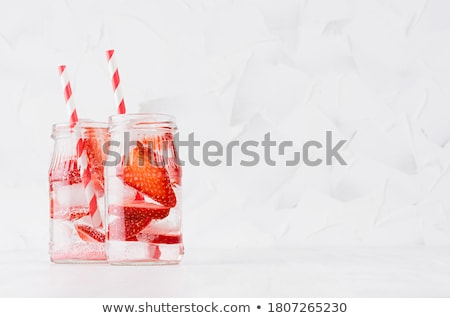 fresh lemonade jar stock photo © karandaev