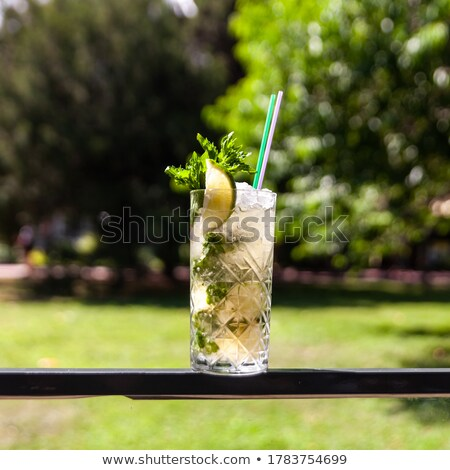 Stok fotoğraf: Taze · limonata · ev · yapımı · sandviç · limon · ahududu