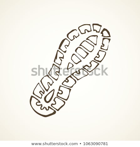 Ayak izi karalama ikon ayak Stok fotoğraf © RAStudio