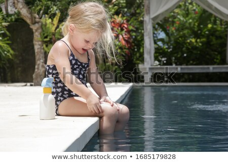 Kid Girl Toddler Swimsuit Sunblock Stock photo © lenm
